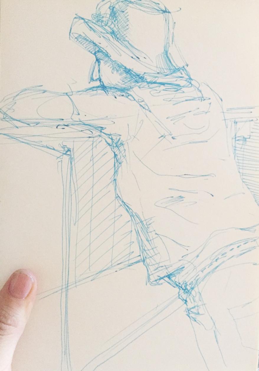 Zeichnerin1_Skizze-Filzstift_Christine-Theke