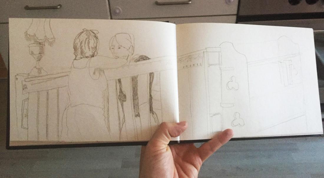 Zeichnerin1_Skizzenbuch_Seecafe