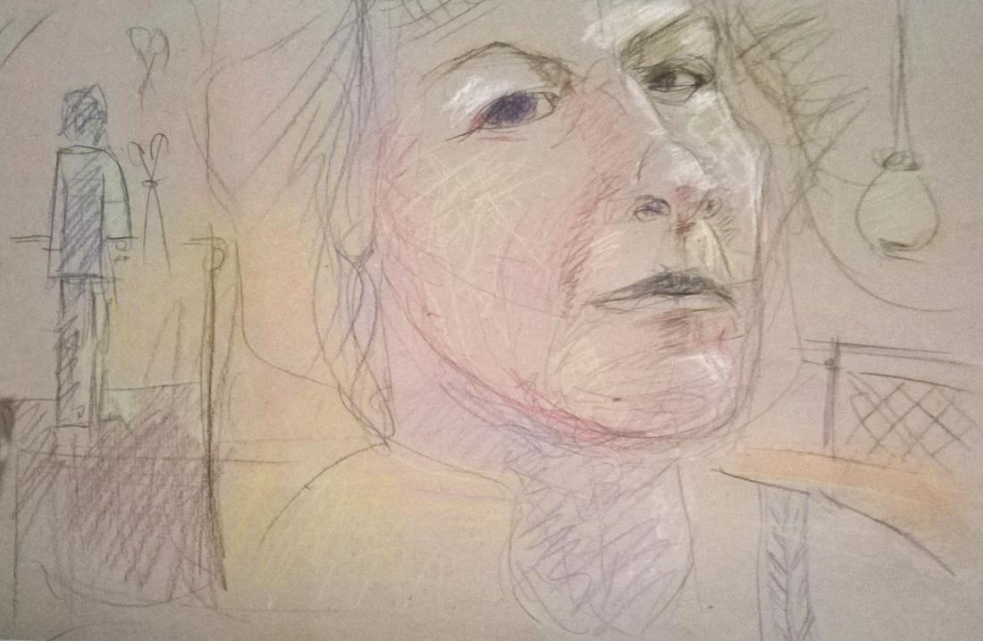 Christine-chiaroscuro_Skizzenblatt
