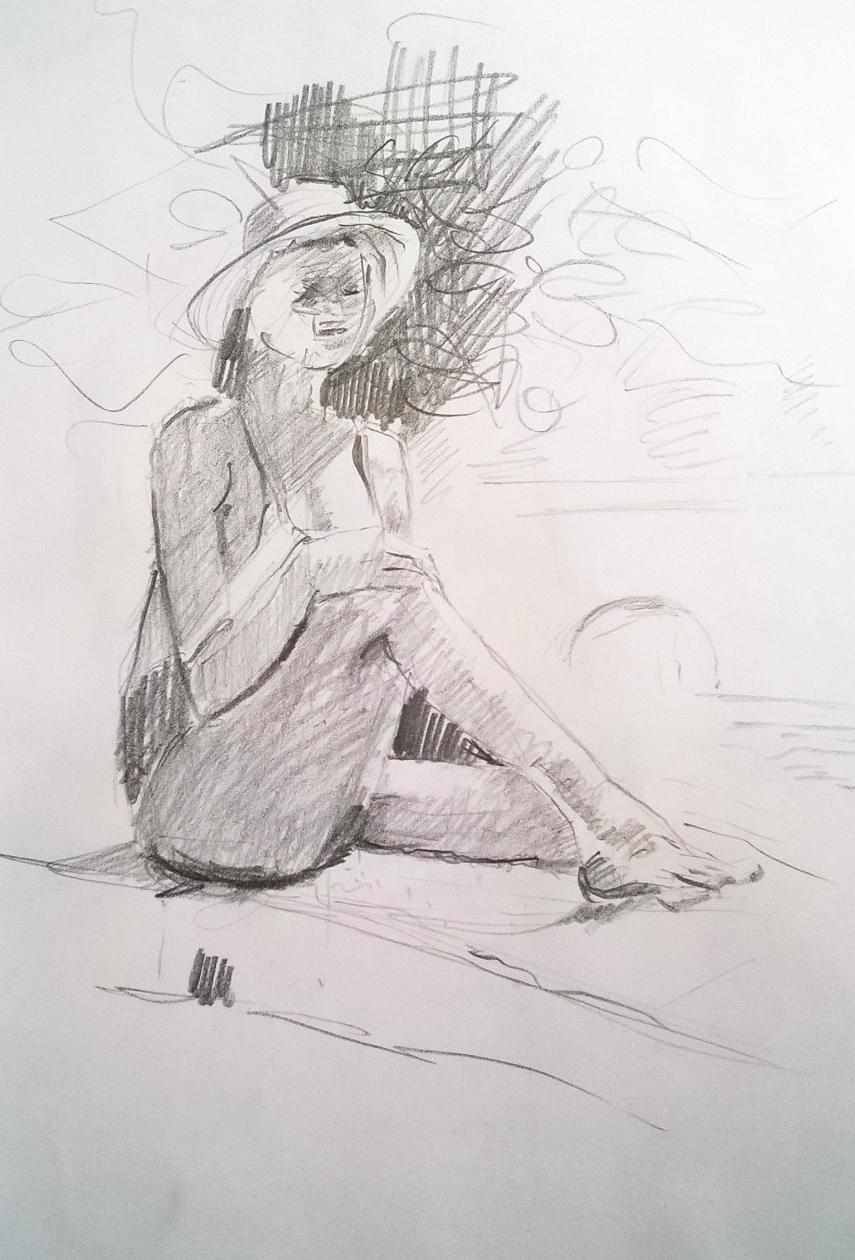 Modell am Brunnen_Christine