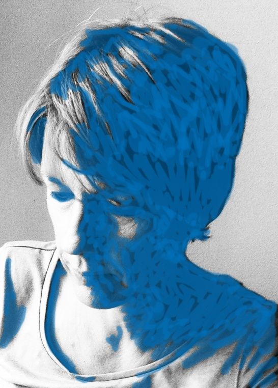 Sandra2swPortrait_blau